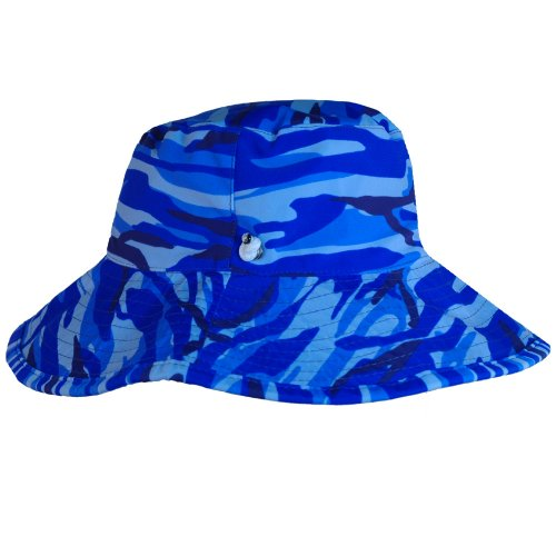 Boys Reversible UV Sun Protective Camo Bucket Hats (UPF 50+)