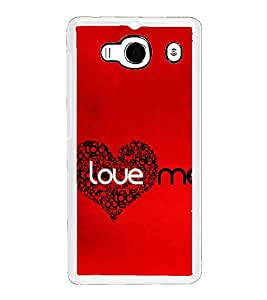 Love Me 2D Hard Polycarbonate Designer Back Case Cover for Xiaomi Redmi 2S :: Xiaomi Redmi 2 Prime :: Xiaomi Redmi 2
