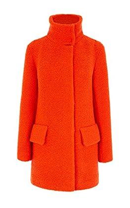 Bright boucle coat