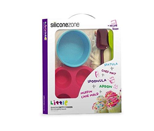Siliconezone Kid's 6-Piece Baking Set, Multicolor
