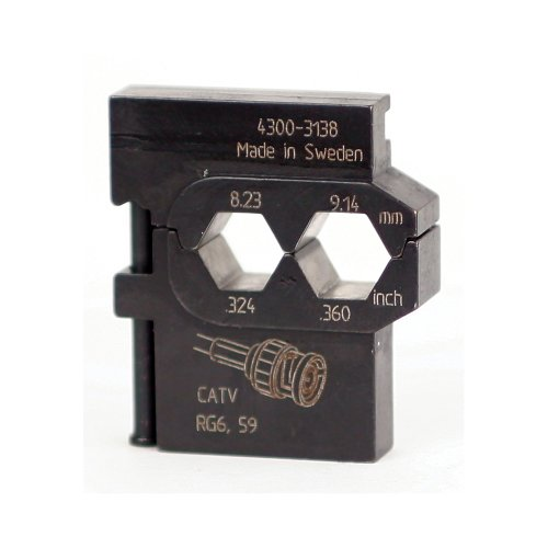 Wiha 43138 PortaCrimp Die Set For Coaxial Network and Communications, CATV, HDTV and Video