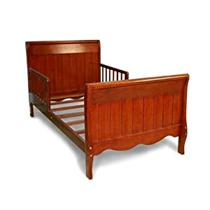 SLEIGH TODDLER BED W/ SOLID PANEL - Cherry