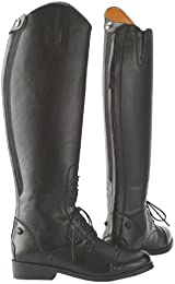 Saxon Womens Equileather Field Boots Black Size 4 N