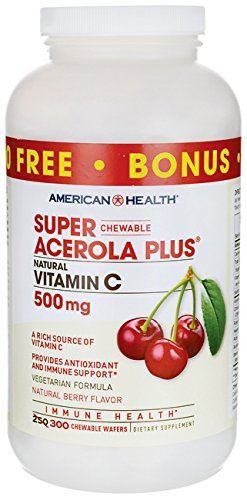 Super Acerola Plus Vitamin C Berry 500 mg 300 Wafers