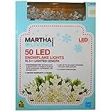 Martha Stewart Living 50-Light LED Warm White Snowflake Light Set