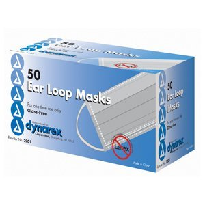 Dynarex Medical Surgical Face Masks 50pk