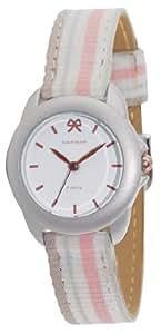 Naf Naf - N10102-001 - Emagnolia - Montre Femme - Quartz Analogique - Cadran Blanc - Bracelet Tissu Rose