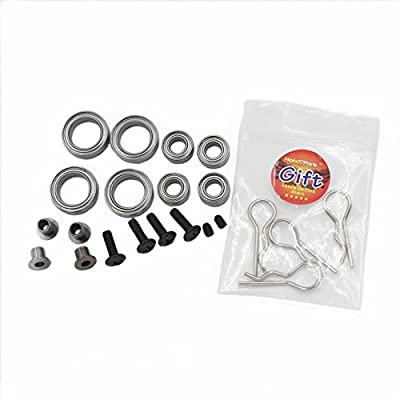 Hobbypark RC 1/10 Model Car Upgrade Parts 02013 02014 02015 Aluminum Steering Hub Mount With Bearing Bolts Screws 102010 102011 102012 For HSP Redcat Drift Buggy Monster Truck