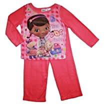 Doc McStuffins Toddler Girls Flannel Sleepwear Set (3T)