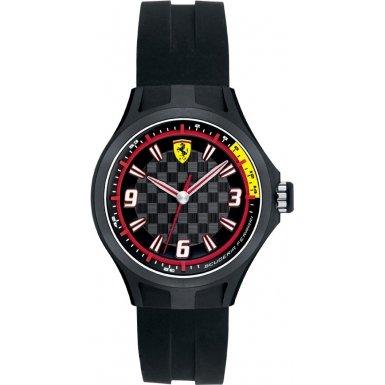 Ferrari 820001 - Reloj analógico de cuarzo para hombre, correa de silicona color negro