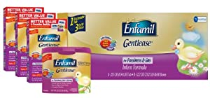 Enfamil Gentlease Infant Formula Milk-Based Powder with Iron, Combo Pack, 118.1 Ounce