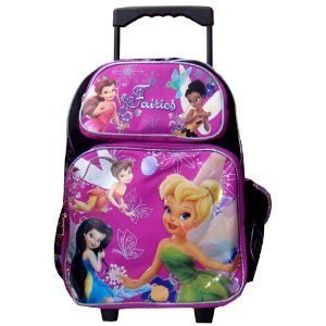 Amazon.com: Tinkerbell Fairies Large Rolling Backpack