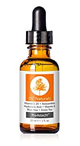 OZ Naturals - THE BEST Vitamin C Serum For Your Face Contains Clinical Strength 20% Vitamin C + Hyaluronic Acid Anti Wrinkle Anti Aging Serum For A Radiant & More Youthful Glow! Guaranteed The Best!