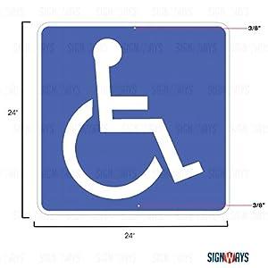 D9-6, Handicapped Sign, 24