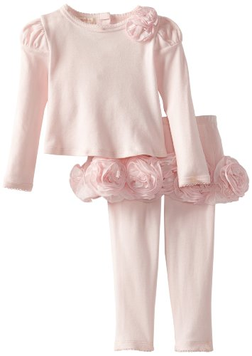 Today Sale Biscotti Baby-Girls Infant Couture Cutie Long Sleevetop and Tutu Legging, Pink, 18 Months