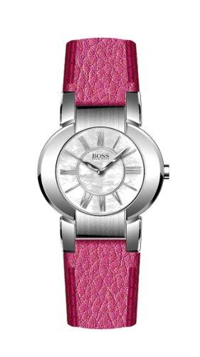 Hugo Boss 1502160 - Reloj de mujer de cuarzo, correa de piel color rosa