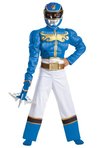 Disguise Power Ranger Megaforce Blue Ranger Boy's Muscle Costume