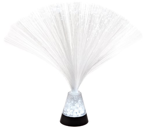 Fortune Products FOL-325C Crystal Crushed Fiber Optic LED Lamp, 3″ Base Width x 3-1/4″ Base Height, 9-3/4″ Tall image