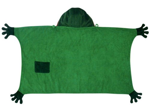 Kidorable Frog Toddler Towel, Green, 3-6 Years front-61078
