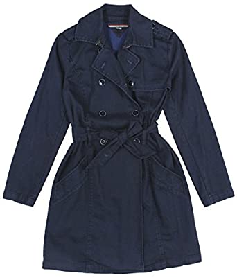 tommy hilfiger women 39 s denim trench coat large blue at. Black Bedroom Furniture Sets. Home Design Ideas