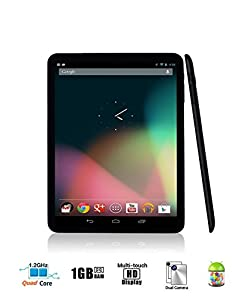 Arch™ Metallic Mini-Studio QUAD CORE 8 inch Android 4.4 KitKat OS HD 1024*768 resolution 4:3 10-Point Capacitive Touchscreen Aluminium Alloy Housing Tablet PC QUARD CORE CPU 1GB DDR3 RAM 8GB Storage, DUAL CAMERA, Front/Rear Camera Supports G-Sensor, Goo