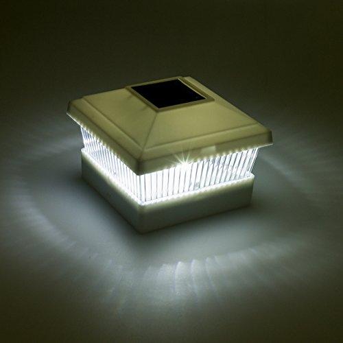solar fence post cap led light for 5 x5 posts white 12. Black Bedroom Furniture Sets. Home Design Ideas