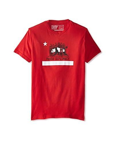 Panda Diplomacy Men's Cali Flag Crew Neck T-Shirt