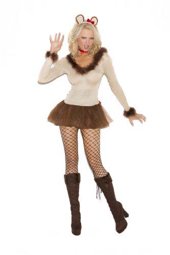 [Lioness - 4 Pc. Costume (L)] (Woman Lioness Costume)