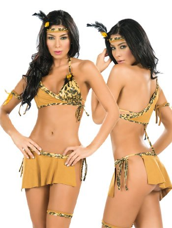 Sexy Fantasy Indian Girl Costume - LARGE