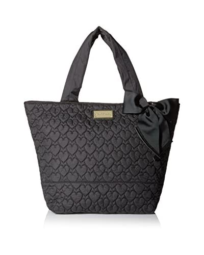 Betsey Johnson Women's Tie The Knot Cire Nylon Tote, Black, One Size
