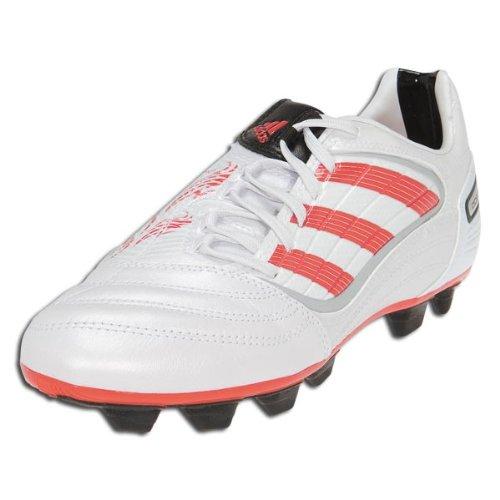 Adidas Absolado X Trx Fg Kids Beckham Soccer Shoes (White Metallic / Predator Red / Black) - Size 4.5