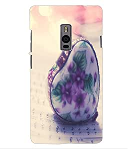 ColourCraft Creative Heart Design Back Case Cover for ONEPLUS TWO
