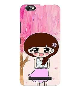 EPICCASE Pink Skirt Girl Mobile Back Case Cover For Lenovo A2020 (Designer Case)