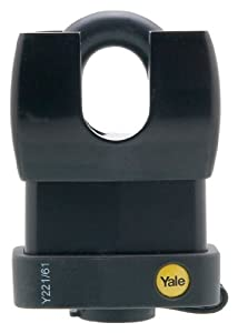 Yale Y221/61/130/1 Laminated Steel and Vinyl Covered Padlock with Guarded Shackle and Covered 5-Pin Key Cylinder, 2-1/4-Inch Wid at Sears.com