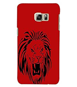 SAMSUNG GALAXY NOTE 5 EDGE LION Back Cover by PRINTSWAG
