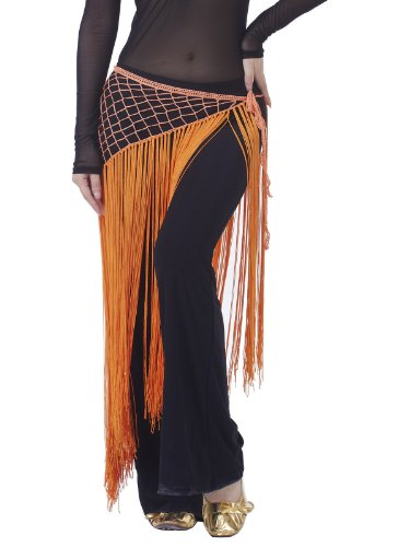 Dance Fairy Excellent Orange Argentina Triangle Hip Scarf Belly Dance belt skirt