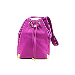 Vince Camuto Janet Drawstring Shoulder Bag,Berry,One Size