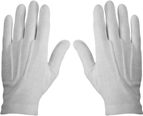 White Dress Parade Gloves (Cotton) 4410 Size Medium