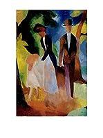 Especial Arte Lienzo Persone sul lago blu - Macke August Multicolor