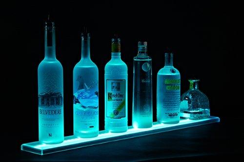 """35"""" Led Lighted Bar Shelves, Led Liquor Bottle Shelf, 2 Ft 11 Inches Long Display"""