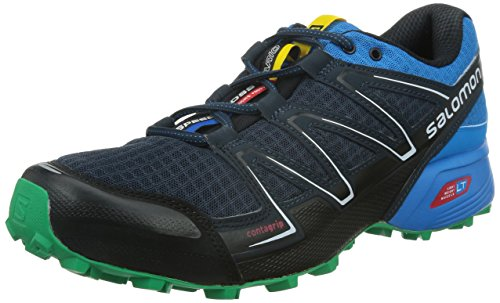 Salomon Speedcross Vario, Scarpe sportive, Uomo, Multicolore (Deep Blue/Bl/Real Green), 43.3