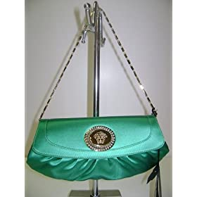 Versace Handbags Green Evening Bag DBSB167