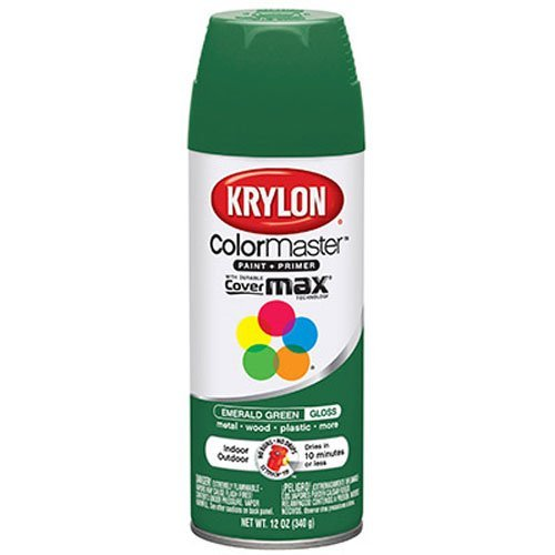 Krylon 52016 Emerald Green Interior and Exterior Decorator Paint - 12 oz. Aerosol (Interior Spray Paint compare prices)