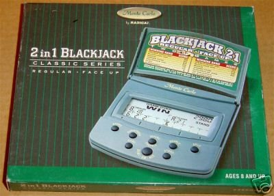 Buy Radica 2 in 1 Blackjack Monte Carlo Handheld