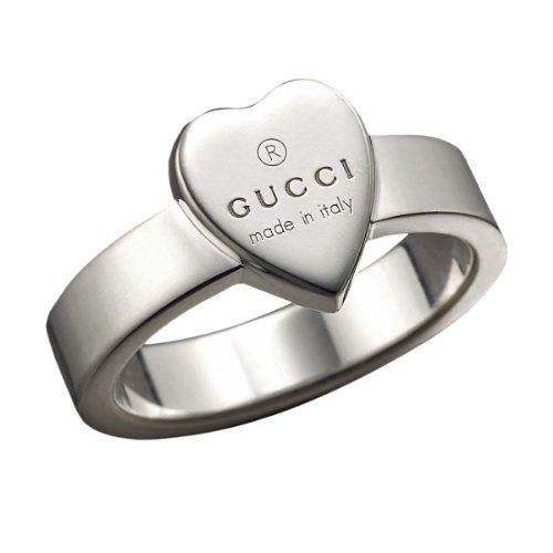 Gucci donna-Anello con inciso a forma di cuore in argento Sterling 925 Gucci GR, 54 YBC22386700154