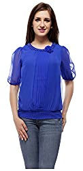 Peptrends Women's Top (TO15083BL_S, Blue, S)