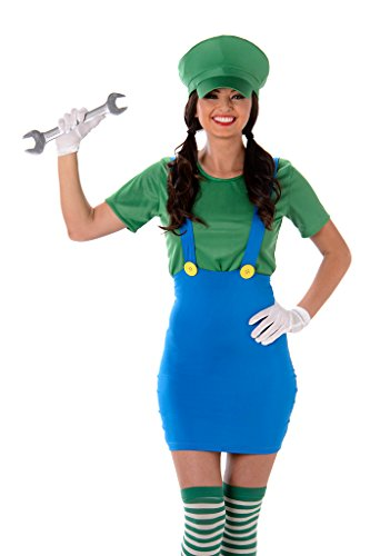 Women's Green Plumber Costume - Halloween (S) (Sexy Plumber Costume compare prices)