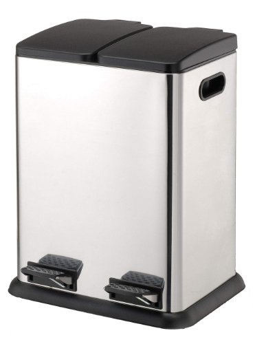 Organize It All Square Step on Recycling Bin (4942W) (Trash Can Recycling compare prices)