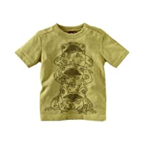 Tea Collection Baby-boys Infant Leap Frog Tee, Apple, 3-6 Months