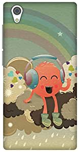 The Racoon Lean printed designer hard back mobile phone case cover for Vivo Y51. (Radiohead)